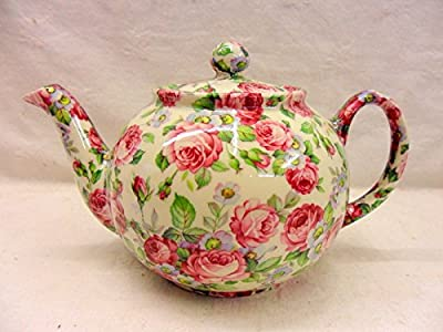 Théière 2 tasses en Rosalinde Chintz Design par Heron Cross Pottery.