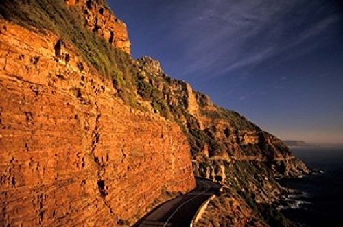 The Poster Corp Nik Wheeler/DanitaDelimont - South Africa Cape Peninsula. Chapmans Peak Drive Cliffs Photo Print (60,96 x 38,10 cm) -