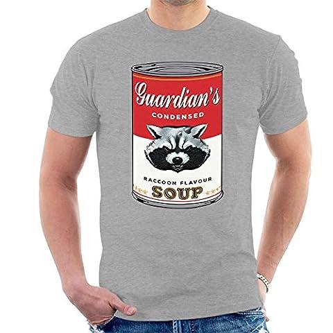 Guardians Of The Galaxy Rocket Raccoon Soup Warhol Men's T-Shirt