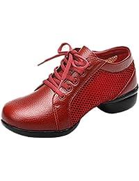 Mary Jane Leinwand Phoenix Bestickt Frauen Weiche Sohle Chinesische Schuhe Casual Wohnungen (EU 39, Blau Rot) CHNHIRA