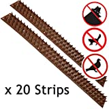 Spares2go 20 Strips Anti-Climb Fence Wall Security Spikes