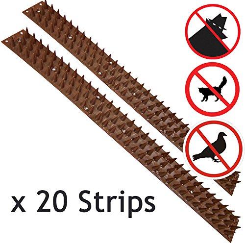 Spares2go 20 Strips Anti-Climb Fence Wall Security Spikes