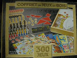 COFFRET DE JEUX EN BOIS 300 JEUX 40 X 30CM