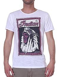 T-Shirt Uomo m/m Girocollo in Cotone Jersey Fiammato