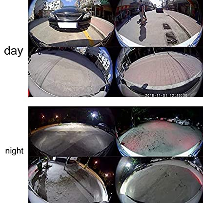 Surround-View-Digital-Video-Recorder-Autofahrrekorder-Fahraufnahme-Kamera-DV360-3DB-3D-1080P-Support-U-Disk-TF-Karten-Aufnahme
