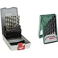 Bosch Professional 19 pièces Jeu de forets à métaux ProBox HSS-G (rectifié, accessoires de perceuse-visseuse et de…