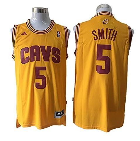 Cavaliers 5 J.R. Smith Yellow New Revolution 30 Jersey Size-L by Dominik