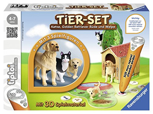 Ravensburger 00744 - tiptoi Tier-Set Golden Retriever - Retriever Hund Haustier Tier