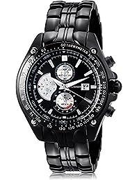 Curren - Reloj de pulsera para hombre, militar, de cuarzo, acero, tungsteno, con esfera grande, color blanco