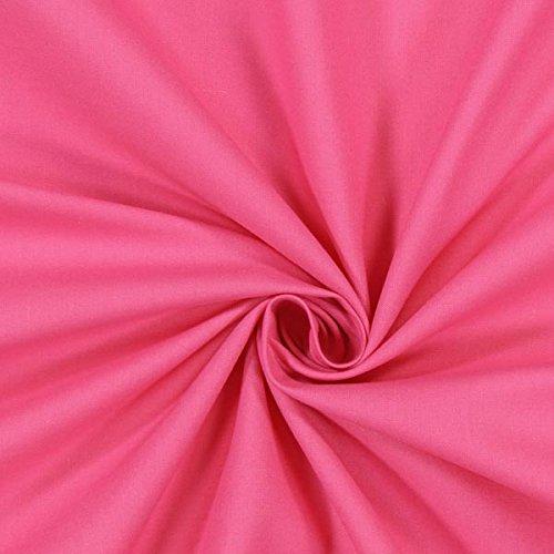 Fabulous Fabrics Classic Cotton hot pink - Meterware ab 0,5m - Oeko-Tex-Standard 100 - zum Nähen von Kissen, Tischdecken und Taschen (Hot Pink Stoff Tischdecke)