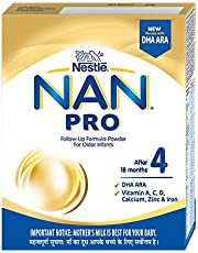 Nestlé NAN PRO 4 Follow-Up Formula-Powder (After 18 months), Stage 4-400g Bag-In-Box Pack