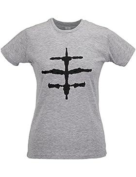LaMAGLIERIA Camiseta Mujer Slim Hüsker Dü Hdd05 - T-Shirt Punk Rock 100% Algodòn Ring Spun