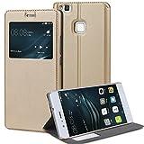 Huawei P9 Lite Hülle, Melojoy Schutzhülle Flip Case mit