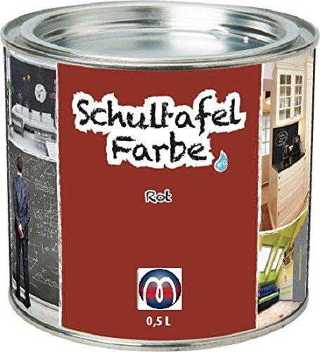 Tafelfarbe / Schultafel-Lack 0,5 L Dose - Tafel-Lack Wandtafelfarbe Kreidefarbe, Farbe:rot