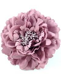 rougecaramel - Accessoires cheveux - Broche fleur / pince cheveux mariage 11cm - vieux rose