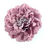 Rougecaramel Haarschmuck Haarklammer mit Blume, 11cm, Altrosa