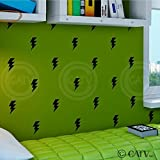 Best Man Lightning Bolts - Lightning Bolt Super Hero wall pattern vinyl decals Review