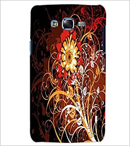 PrintDhaba Digital Flower D-2125 Back Case Cover for SAMSUNG GALAXY ON 5 (Multi-Coloured)