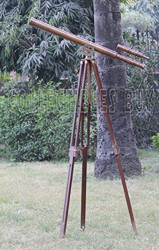 klassischen-retro-thema-teleskop-messing-antik-rostigen-finish-holz-stativ-kompakt