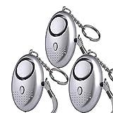 owikar LED llavero 130db de alarma Personal de emergencia seguridad alarma de seguridad de defensa portátil supervivencia silbato seguridad protecció