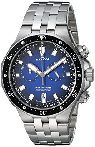 Edox Men's Analog Quartz Watch with Stainless-Steel Strap 10109 3M BUIN