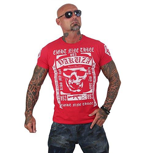Yakuza Original Herren Kiss My XXX T-Shirt, Gr.-S, Ribbon Red