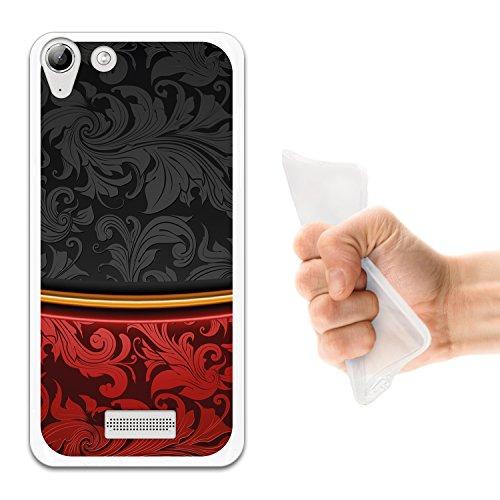 WoowCase Wiko Selfy 4G Hülle, Handyhülle Silikon für [ Wiko Selfy 4G ] Schwarz & Rot Vintage Handytasche Handy Cover Case Schutzhülle Flexible TPU - Transparent