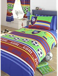 Kid de Club de Football Parure de lit double Housse de couette et 2taies d'oreiller, en polycoton, multicolore