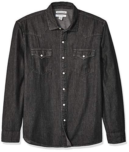 Amazon Essentials - Camisa tejana manga larga corte