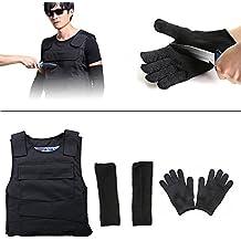 Obller corpo armatura anti coltello Stab anteriore e posteriore armatura Proof Vest gilet da incasso, braccio della manica, filo in acciaio INOX resistenza guanti