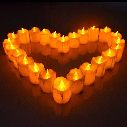 Giftgarden--Conjunto de 2 LED Velas sin llamas 3.6x5.6cm[Clase de eficiencia energética A+]