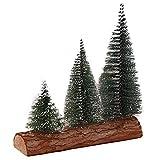 Happy Event Weihnachtsbaum | Mini Kiefer mit Holzfuß | DIY Handwerk Home Tischdekoration