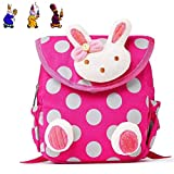 URAQT Baby Kindergarten Baumwolltuch Schulrucksäcke, Kinder Mini Rucksack, Kindergartentasche Backpack, Karikatur Tier Muster für Outdoor / Sports / Camping / Picknick Rucksäcke