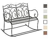 CLP 2er-Schaukelbank Gesine aus Eisen I Gartenbank im Landhausstil I Eisenbank mit hoher Rückenlehne I In Verschiedenen Farben erhältlich Bronze
