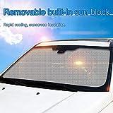 Parabrezza in lamina alluminio a bolle d'aria - Parasole pieghevole in alluminio Parasole anti-UV auto a tenuta stagna, Mantenere freddo Parasole di neve Parabrezza di neve per auto Camion furgoni SUV
