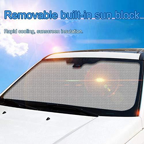 69 YANLE 19 11 81In Visiera Anti-UV per Finestrino Nero Parasole per Finestrino Pellicola Elettrostatica per SUV Minivan E Auto di Grandi Dimensioni