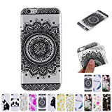 V-Ted Coque Apple iPhone 7 Plus 8 Plus Mandala Noir Silicone Ultra Fine Mince Bumper...