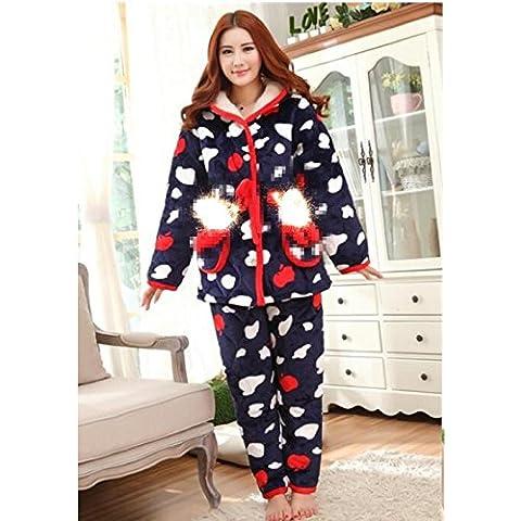Ogni Coppie Pajamas Set venduto separatamente velluto