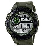 Oumosi orologi sportivi moda LED digitale militare orologio da polso da uomo Green