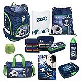 Familando Fußball Schulrucksack Set 9tlg. Twixter Up Sporttasche Dose Flasche Schulranzen Scooli FCPR7551