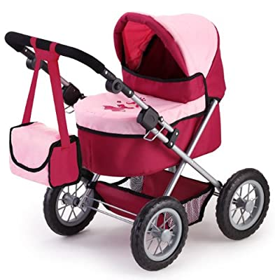 Bayer Design 13014 - Carrito para bebé de juguete, color granate y rosa de Bayer Design