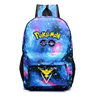 Galaxy Printing Game Pokemon Go Backpack Casual Fashion School Bag Pokemon Nylon Student Youth Satchel Rucksack Travel Bookbag For Teenager Girls Women Men