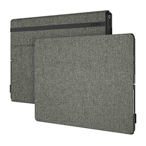 Incipio [Esquire Series] Folio Case Microsoft Surface Pro 6 / Pro (2017) und Pro 4 - Microsoft zertifizierte Schutzhülle [Baumwolle I Kickstand und Type Cover Kompatibel I Halterung Surface Pen]olivgrün