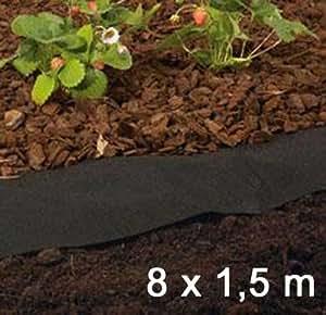 Telo pacciamante 8 m lungo in polipropilene erbaccia giardino in tessuto non tessuto - Telo tessuto non tessuto giardino ...