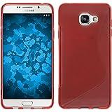 Coque en Silicone pour Samsung Galaxy A3 (2016) A310 - S-Style rouge - Cover PhoneNatic Cubierta + films de protection