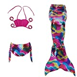 Fanryn niedlich Mädchen Meerjungfrau Schwimmanzug Schalentiere schuppen Stil Badeanzüge Bikini Kostüm Badeanzug Kann Monofin treffen für Kinderschwimmen Schwimm Cosplay