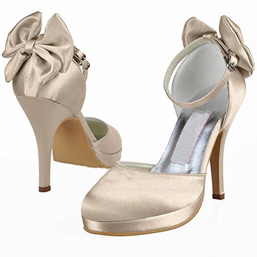 Kevin Fashion , Chaussures de mariage à la mode femme Marron - Marrón - Champange
