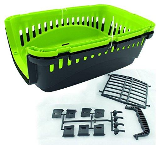 Transportbox Kunststoff für Katzen oder kleine Hunde Autotransportbox für Kleintiere 45 x 30 x 30 cm, Farbe:Hellgrün - Vorrichtung Katze