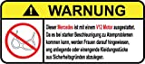 Mercedes V12 Motor German Lustig Warnung Aufkleber Decal Sticker