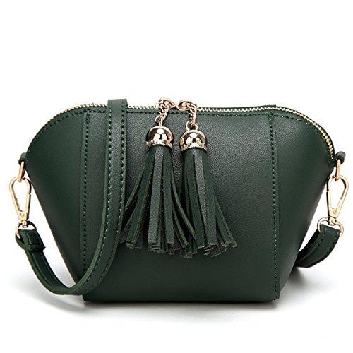 Messenger Bag Nappa Borsa A Tracolla Per Il Tempo Libero Di Colore Solido Di Modo,Green Green